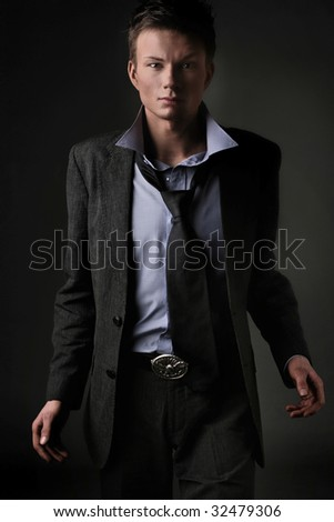 Fashion style photo of an elegant man