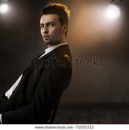 Fashion style photo of an elegant man - stock photo