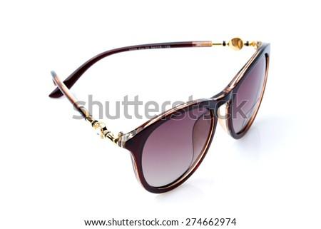 Fashion 2015 summer  sunglasses on white background  - stock photo