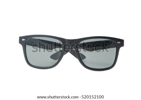 Fashion sun glasses, isolated over the white background