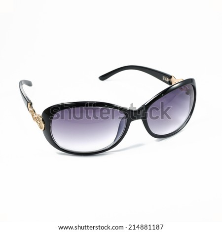 fashion sunglasses on white background