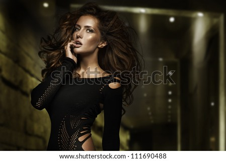 Fashion type photo of a stunning young beauty - stock photo