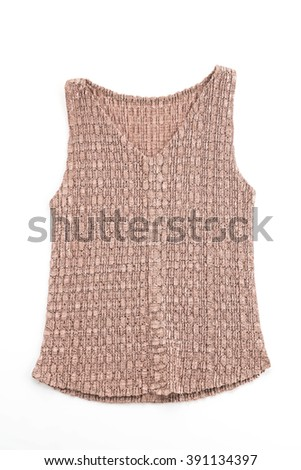 fashion vest on white background