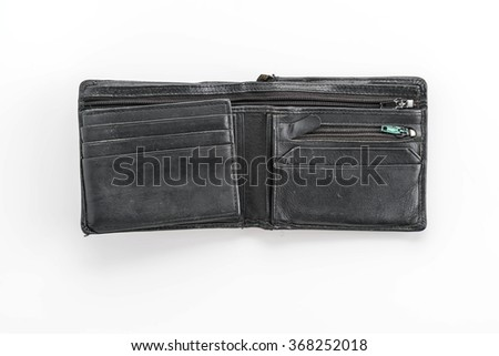 fashion wallet on white background
