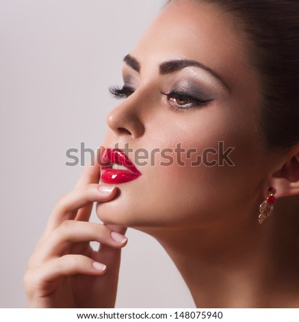 Fashion woman . Fashion portrait - stock photo