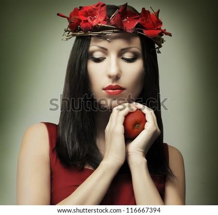 Fashion woman - temptation - stock photo