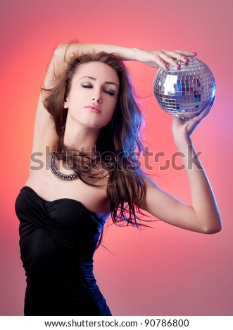fashion woman with beautiful makeup - stock photo