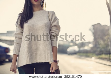 Fashion women in sweater