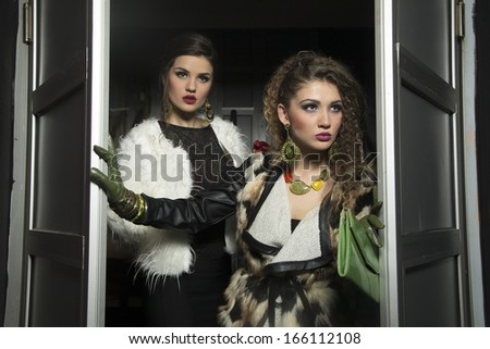 Fashion women portrait  - stock photo