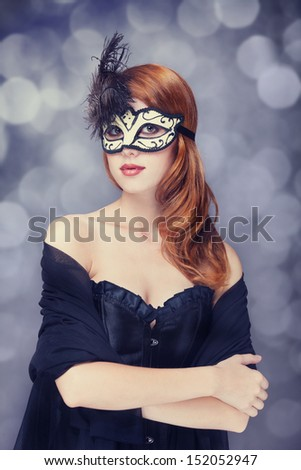 Fashion women with mask.