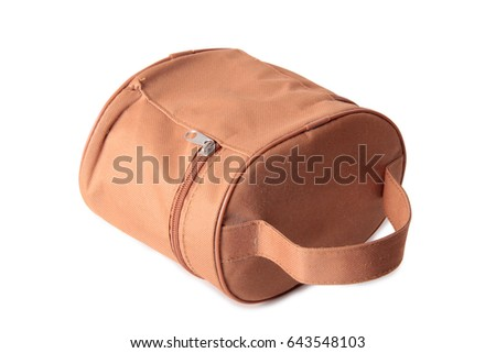 Fashionable female bag on a white background