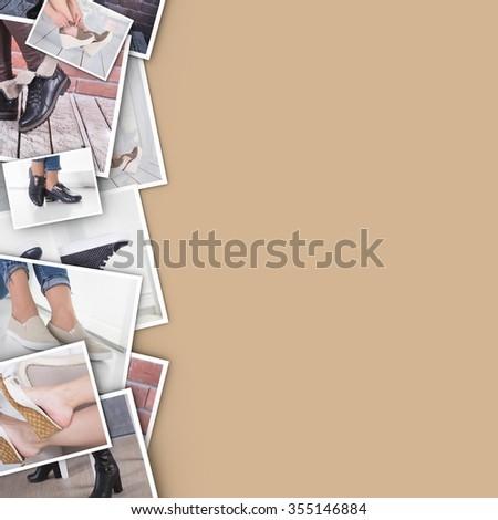Fashionable footwear on female feet - stock photo