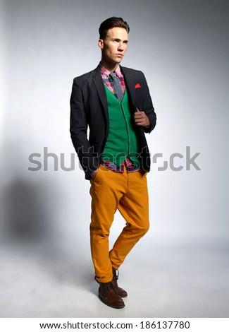 fashionable guy  - stock photo