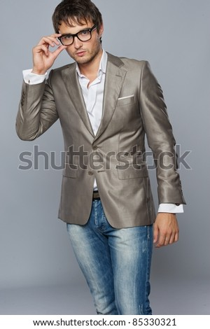 Fashionable handsome young man. - stock photo