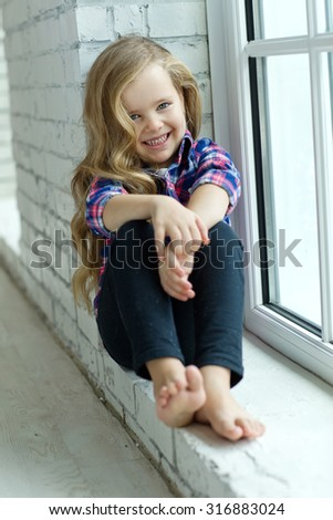 Fashionable little girl - stock photo