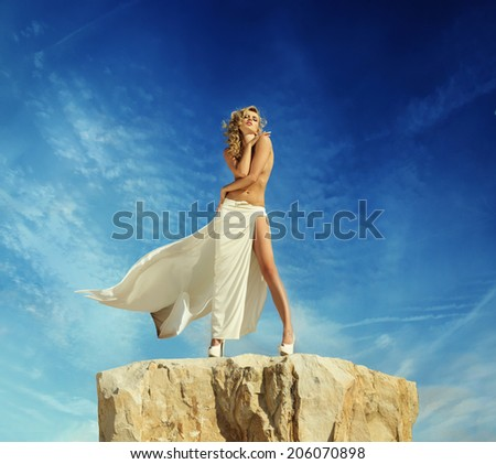 Fashionable woman - stock photo