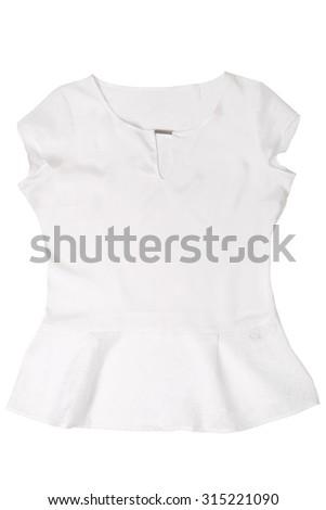 Fashionable women's blouse isolated on white background - stock photo