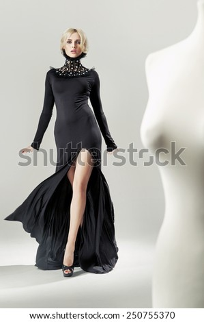 Fashionable young lady - stock photo