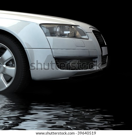 Fast car - stock photo