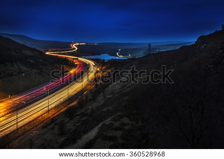 Fast Cars, Huddersfield, West Yorkshire - stock photo