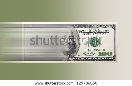 Fast cash express money - stock photo