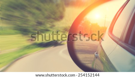 Fast driving. - stock photo