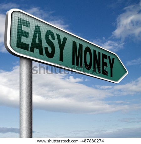 fast easy money quick extra cash make a fortune online income  3D, illustration