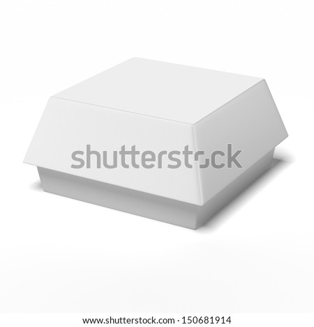 Fast Food Carton Container - stock photo