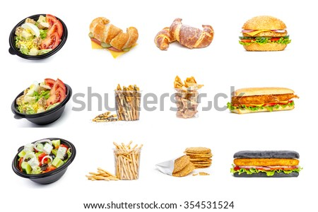 Fast food collage