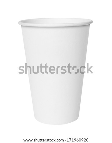 Fast food cup. Isolated on white - stock photo