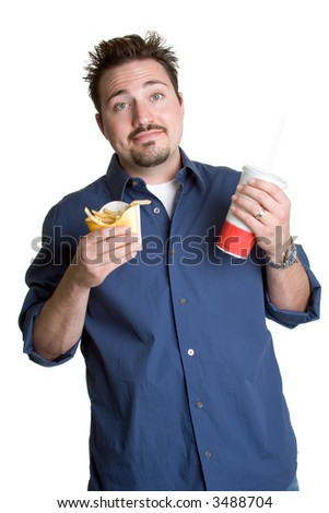 Fast Food Man - stock photo