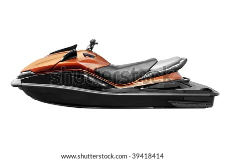 fast jet-ski isolated - stock photo
