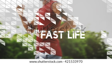 Fast Life Rushing Speed Hurry City Life Lifestyle Concept - stock photo