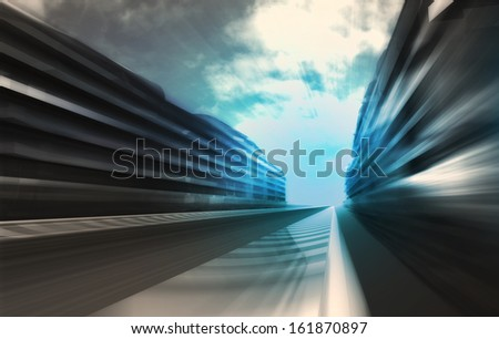 fast motion racetrack in business city wallpaper illustration