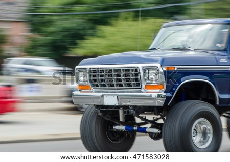 Fast Moving Pickup Truck