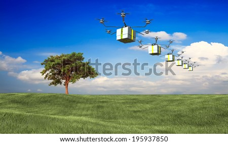 fast package deliver  - stock photo