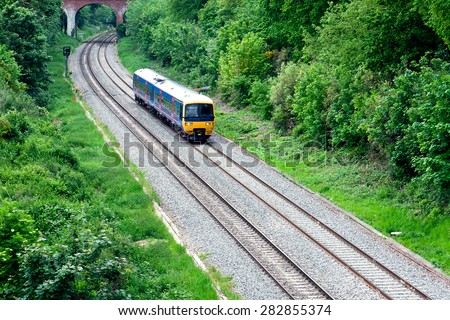 Fast Passenger Commuter Train  - stock photo