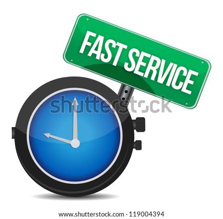 fast service concept illustration design over a white background - stock photo