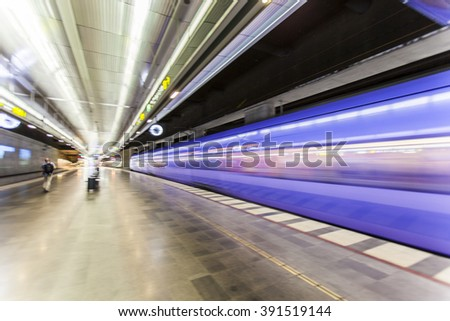 fast train passing by,speed motion blur background,fast train traveling at high speed