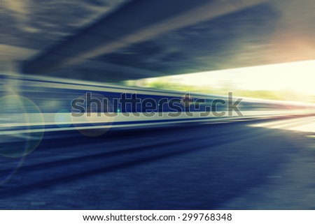 fast train passing by,speed motion blur background,traveling and transportation background - stock photo