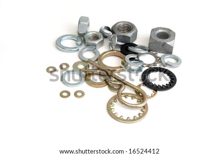 fastener products - stock photo