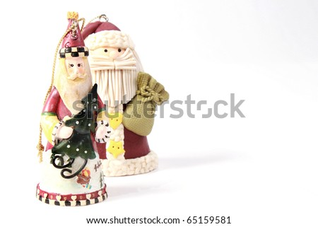 Fat and slim Santa - stock photo
