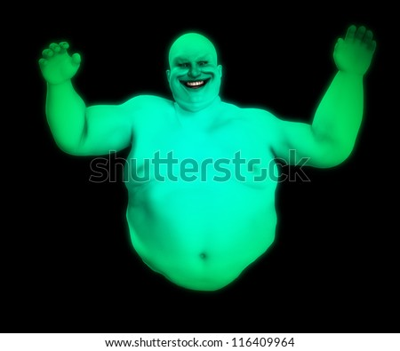 fat floating male ghost for Halloween.