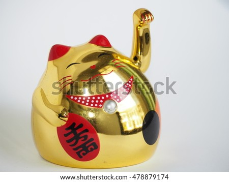 Fat lucky cat