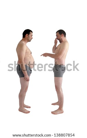 fat shaming - stock photo
