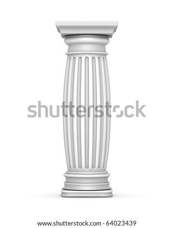 Fat White Column - stock photo