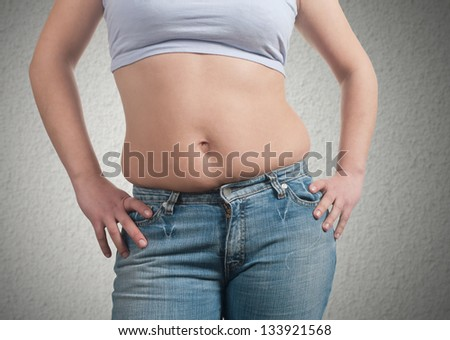 fat woman - stock photo