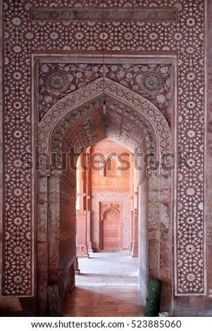 FATEHPUR SIKRI, INDIA - FEBRUARY 15 : Jama Masjid Mosque in Fatehpur Sikri complex, Uttar Pradesh, India on February 15, 2016.