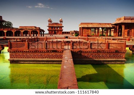 Fatehpur Sikri, the old city of Maharajahs - stock photo