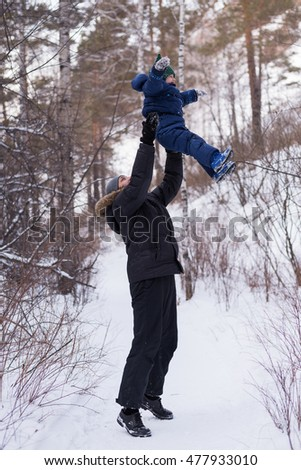 Father abandoning his child in winter